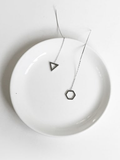 925 Sterling Silver Geometric Minimalist Threader Earring