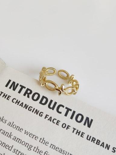 J 927 cross twist ring 925 Sterling Silver Geometric Minimalist Midi Ring