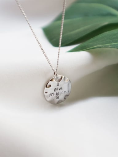 925 Sterling Silver Round Brand English Chain  Necklace