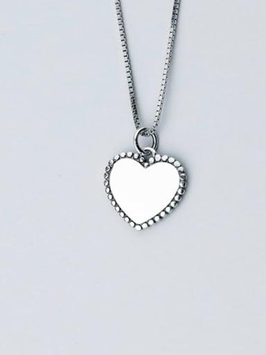 Heart 925 Sterling Silver Vintage Heart shaped Pendant