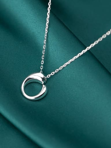 925 Sterling Silver With Platinum Plated Minimalist Irregular Necklaces