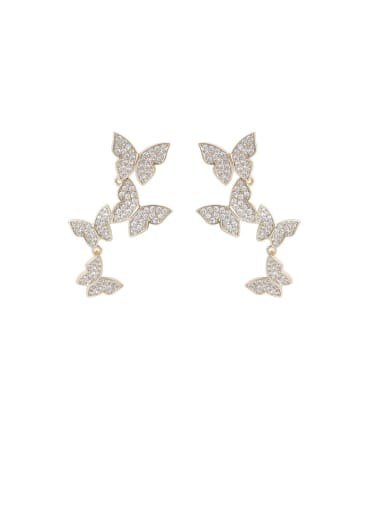 Alloy With Imitation Gold Plated Fashion Bowknot Drop Earrings
