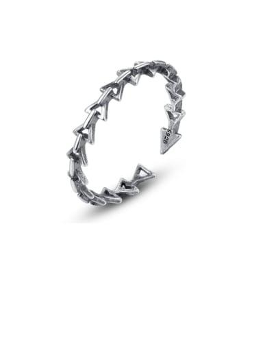 925 Sterling Silver Irregular Vintage Band Ring