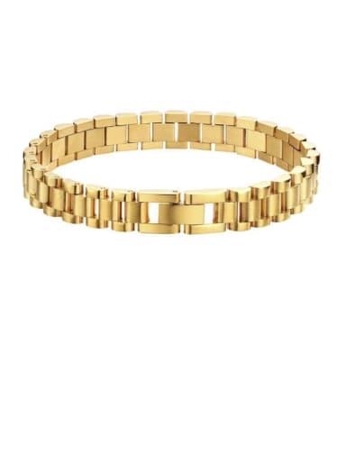 Titanium Geometric Vintage Link Bracelet