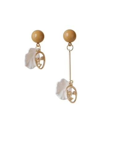 Alloy With Imitation Gold Plated Trendy Geometric Drop Earrings
