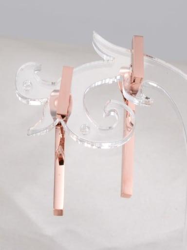 Titanium Geometric Minimalist Drop Earring