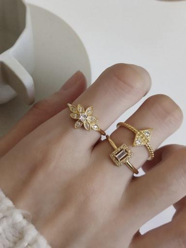 925 Sterling Silver Geometric Minimalist Free Size  Band Ring