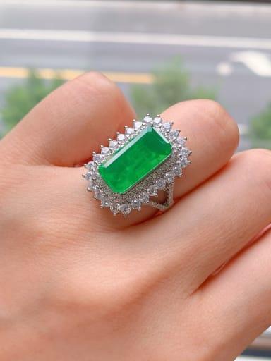 Copper Cubic Zirconia Geometric Luxury Statement Ring