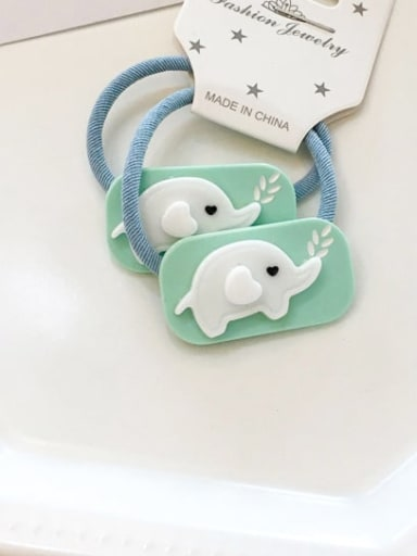 3 elephant Cellulose Acetate Cute  Small animals Hair Rope