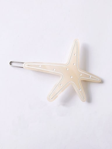 yellow Cellulose Acetate Minimalist Star Hair Pin