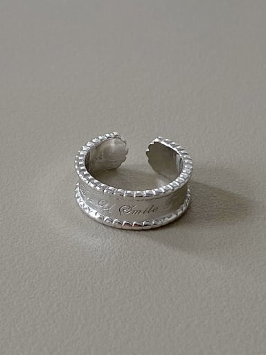 925 Sterling Silver Minimalist English Letter Free Size Ring