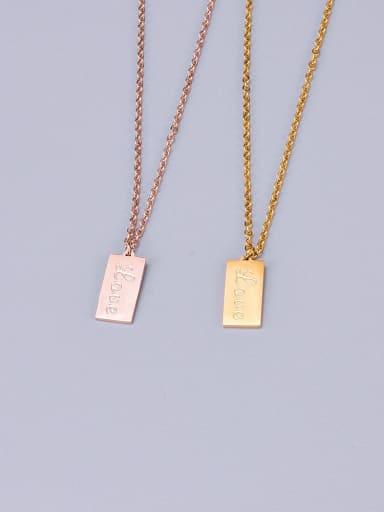 Titanium Geometry Letter Necklace