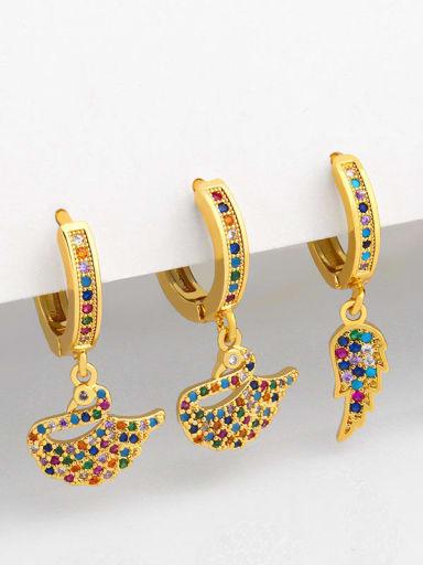 Brass Swan Vintage Huggie Earring