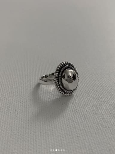 925 Sterling Silver Oval Artisan Blank Ring