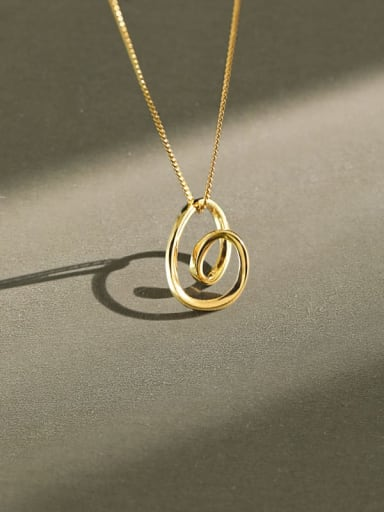 925 Sterling Silver Hollow Heart Minimalist Necklace