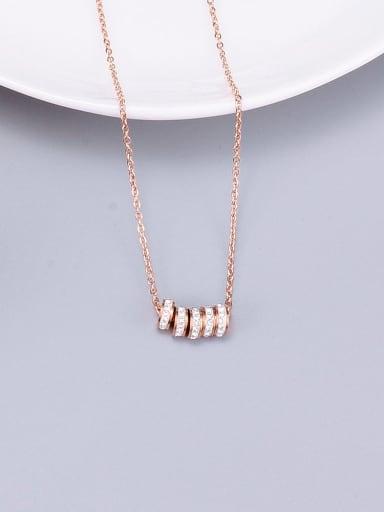 Titanium Rhinestone White Necklace