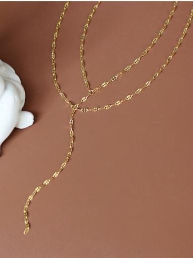 Titanium Star Minimalist Lariat Necklace
