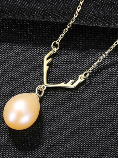 Pink 7I11 925 Sterling Silver Freshwater Pearl White Irregular Minimalist Lariat Necklace