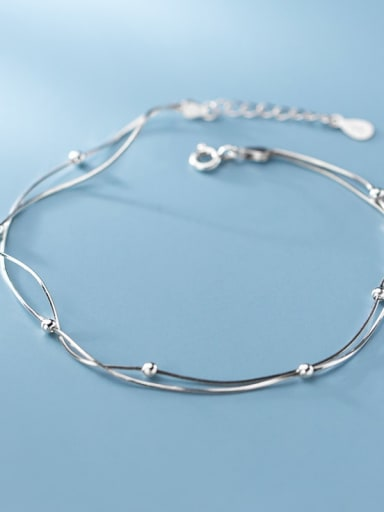925 Sterling Silver  Irregular Minimalist  Anklet