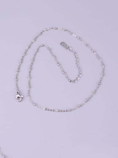 silvery Titanium Bead Round Minimalist Choker Necklace