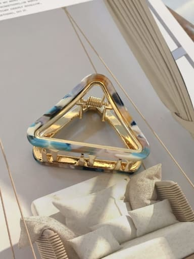 Cloisonne Alloy Cellulose Acetate Trend Hollow Triangle Jaw Hair Claw