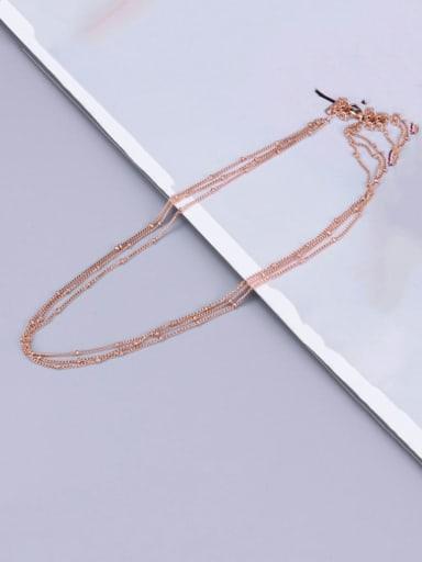 Titanium Round Bead  Classic Multi Strand Necklace