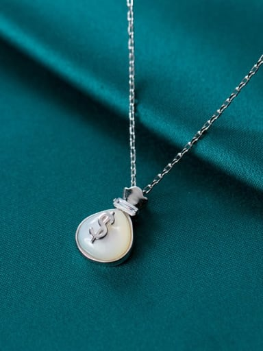 925 Sterling Silver Cats Eye Irregular Minimalist Necklace