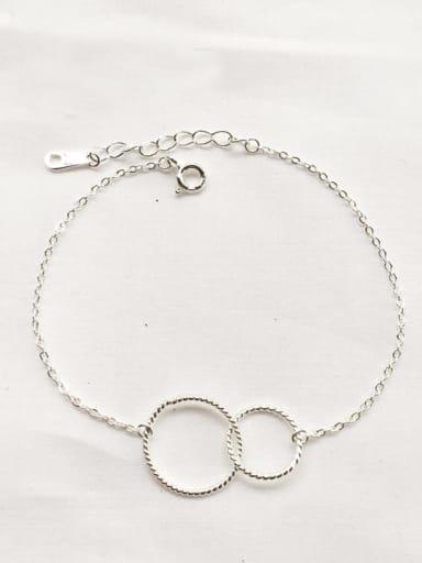 925 Sterling Silver round link Bracelet