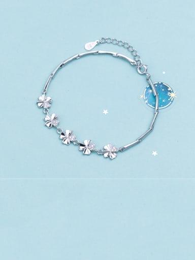 925 Sterling Silver Flower Minimalist Bracelet