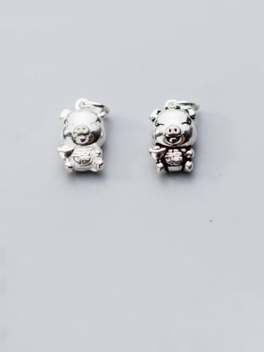 925 Sterling Silver With Cute Pig Pendant  Diy Jewelry Accessories