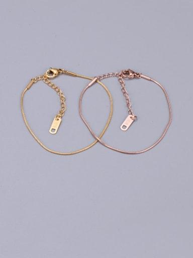 Titanium Fashion Simple Snake Bone Chain Anklet