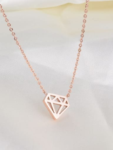 Titanium Hollow Triangle Necklace