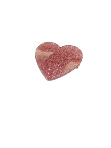 2#red Zinc Alloy Heart Minimalist Barrettes & Clips