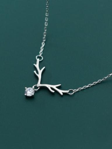 925 Sterling Silver Cubic Zirconia  Irregular Minimalist Necklace
