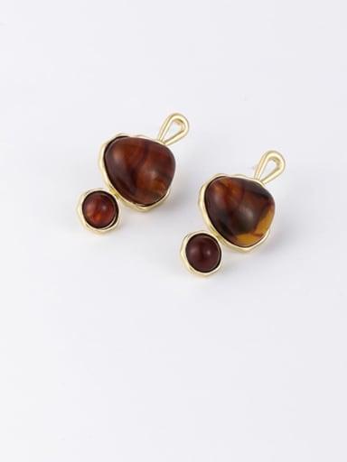 B Zinc Alloy Resin Geometric Minimalist Drop Earrings