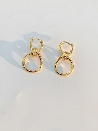 Stainless Steel   Hollow Oval Minimalist Drop Earring