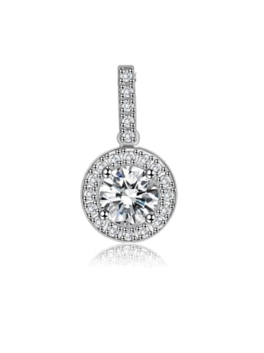 925 Sterling Silver Cubic Zirconia Minimalist Round Pendant
