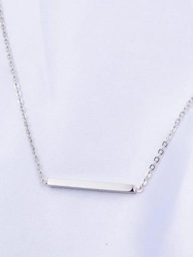 silvery Titanium Smooth Geometric Minimalist Choker Necklace