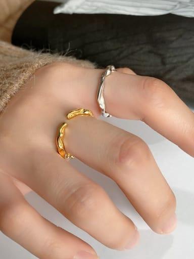 925 Sterling Silver Irregular Minimalist  free size Ring