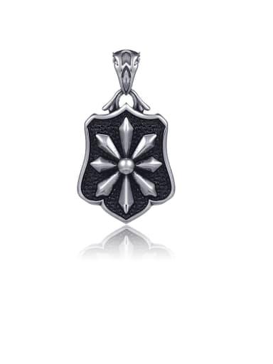 Titanium Vintage Cross  Pendant