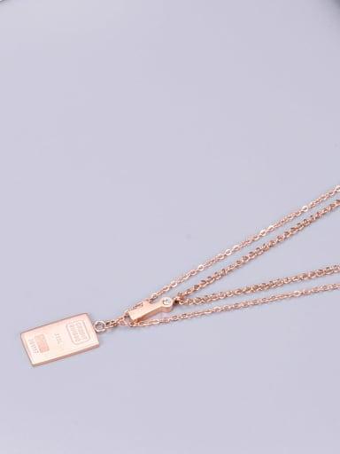 Titanium Square Classic Multi Strand Necklace