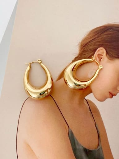 Oval eh 280 Stainless steel Geometric Minimalist Drop Earring