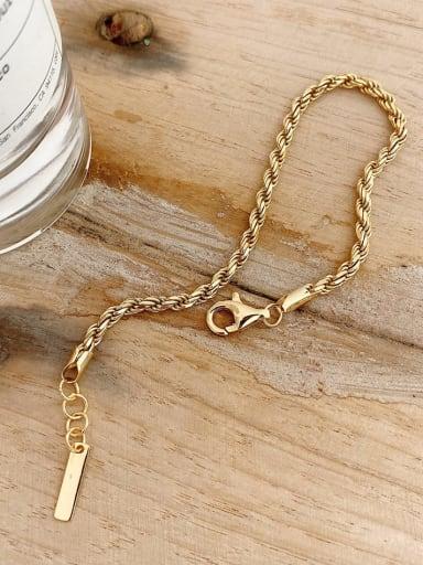 925 Sterling Silver Irregular Vintage  Twist   Link Bracelet