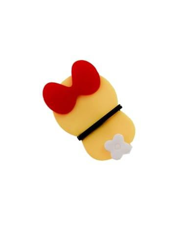 Yellow jingle cat Alloy Cellulose Acetate Cute bow Doraemon Hair Barrette