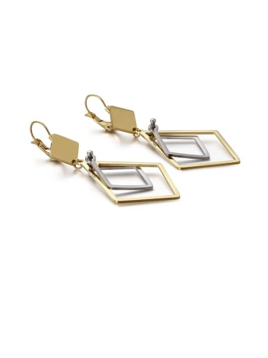 Stainless Steel Hollow Geometric Minimalist Drop Earring