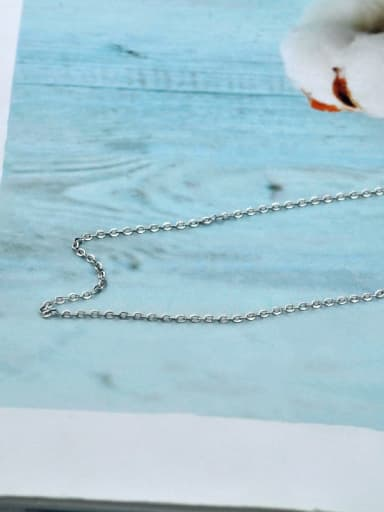 Cross chain xl016 925 Sterling Silver With Antique Silver Plated Simplistic Chain Necklaces