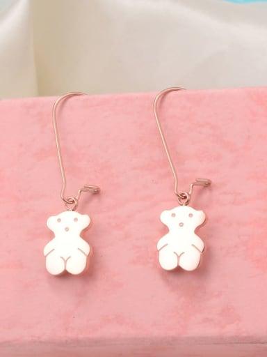 Titanium Bear Cute Hook Earring