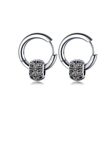 Titanium Irregular Vintage Stud Earring