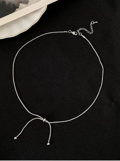 Titanium Bowknot Minimalist Choker Necklace