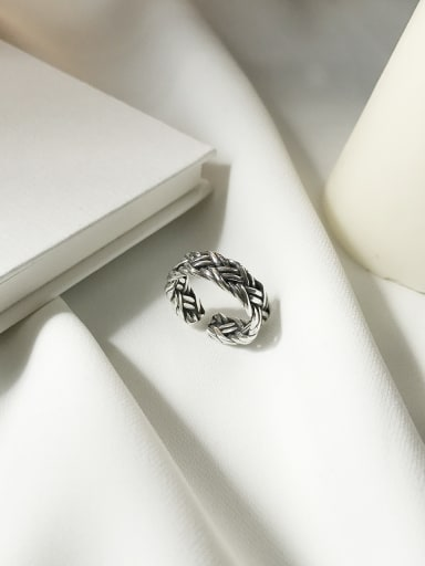 925 Sterling Silver Vintage Twist Band Ring